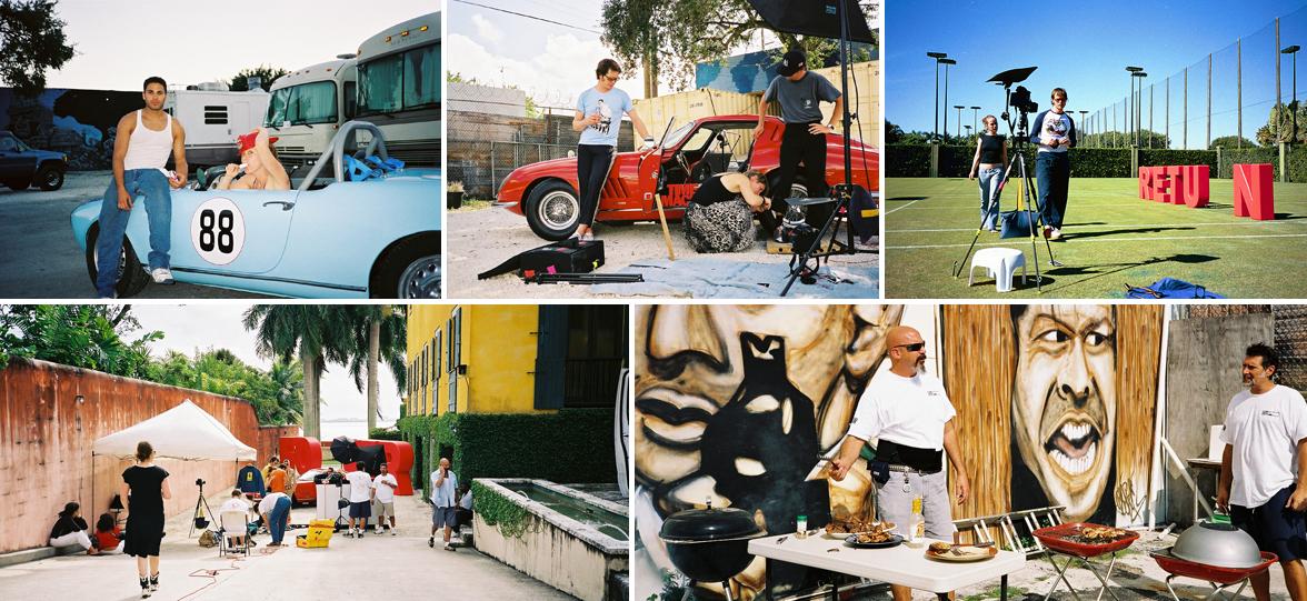 Fila campaign shooting Miami Fl USA